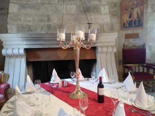 castle wedding setup
