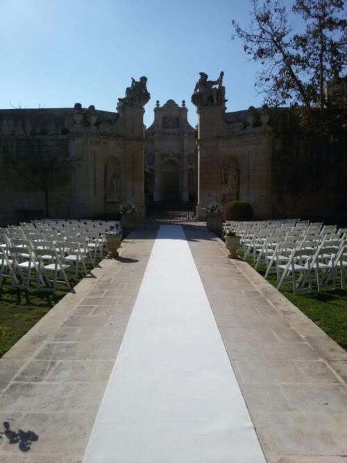 Malta Wedding Planner Roseamarie white carpet